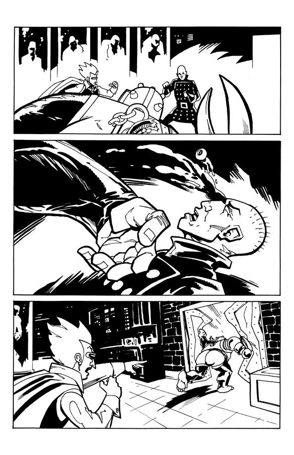 zango  1 page 17 original art